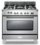 Verona Classic 36 Dual Fuel Pro Range Vclfge365ss Stainless Steel