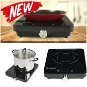 1800 W Induction Cooktop Single Burner Electric Stove Portable Cooking Kitchen