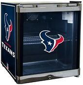 Houston Texans Nfl Sports Glass Door Refrigerator Cooler Beverage Center Fridge
