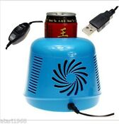 Usb Gift Mini Pc Cooler Warmer Home Small Refrigerator Freezer For Car Traveling