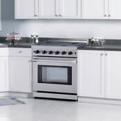 Propane Cooktop Stove 30 Gas Range 5 Burner With Oven Stainless Steel Lrg3001u