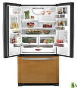 Kitchenaid Kfco22evbl Counter Depth French Door Refrigerator Overlay Panel Ready