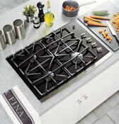 Ge Profile 30 Gas On Glass Cooktop 4 Sealed Burners Control Lock Ada Compliant