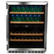 Edgestar Cwb8420dz 24 Inch Wide Wine And Beverage Cooler With Dual Zone Operatio