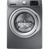 Samsung Wf42h5200ap 4 2cf 9 Cycle Steam Front Load Washing Machine Platinum Gray