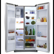 Side By Side Refrigerator 24 5cu Ft Stainless Multiple Doors Kitchen Appliance