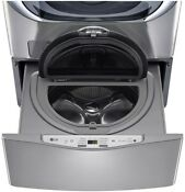 Lg Electronics 29 In 1 0 Cu Ft Sidekick Pedestal Washer In Graphite Steel