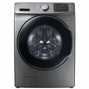 Samsung Wf45m5500ap 4 5cf 10 Cycle Front Load Washing Machine Steam Platinum