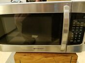 1 1 Cubic Ft Stainless Steel And Black 1000 Watt Touch Control Microwave Oven