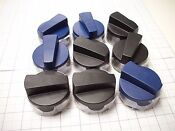 New Thermador Gas Range Black Blue Cook Top Knob Kit Part Knobctblk