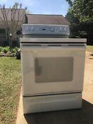 Very Clean Ge White Spectra Smooth Top Stove Self Cleaning