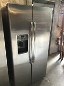Ge Stainless Steel Side By Side Excellent Conditon
