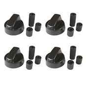 4 Pack Black Generic Design Stove Oven Control Knob With 12 Adapters