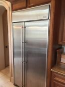 Jenn Air 42 Built In Stainless Steel Side By Side Refrigerator Model Js42sefxda