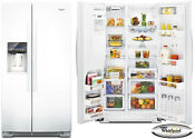 Whirlpool Gsc25c6eyw 36 White Counter Depth Side By Side Refrigerator