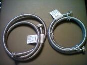 Pair Of Washing Machine Hose Connectors 5 Braided Stainless Steel 3 4 Watts