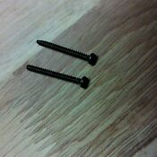 Ge General Electric Microwave Oven 2 Grille Mounting Screws Wb01x10062 Black