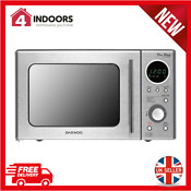 Daewoo Kor3000dslr Touch Dial Control Duo Plate Microwave 800w 20l Silver New