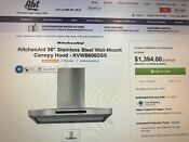 Kitchenaid 36 Stainless Steel Wall Mount Canopy Hood Kvwb 606dss