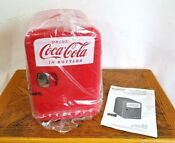 Coca Cola Mini Personal Fridge Thermoelectric Cooler Warmer Kwc 4u New