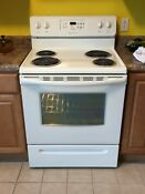 Frigidaire White Electric Range Stove Oven Never Used Great Condition