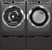 Electrolux Front Load Laundry Pair With Efls627utt 27 Washer Efmg627utt 27 Gas