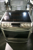 Lg Lse4613st 6 3cf Electric Range Convection Probake Slide In Stainless Steel