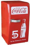 22 L Retro Style Coca Cola Room Dorm Refrigerator Can Beverage Cooler Fridge Red