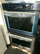 Kitchenaid Kode500ebs02 30 Black Stainless Double In Wall Oven Convection