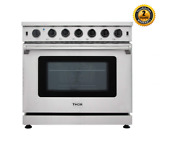 Thor Stainless Steel 36inch Gas Range Stove Oven 6 Cu Ft 6 Burner Lrg3601u Us