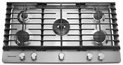 Kitchenaid Kcgs556ess 36 Gas Cooktop Stainless Steel Professional Dual Burner
