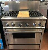 0004350 36 Thermador Gas Stove Stainless Steel