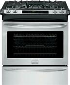 Frigidaire Fggs3065pf 30 Inch Slide In Gas Range In Stainless Steel