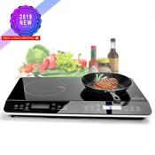 Duxtop 9620ls Lcd Portable Double Induction Cooktop 1800w Digital Electric Count