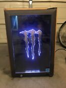 Monster Energy Mini Fridge Refrigerator Java Edition Real Wood