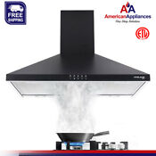Gasland Chef Pr30bp 30 Wall Mount Range Hood Black 30 Inch Range Hood Fan
