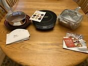 New 9 Pc Nuwave Pic Gold Precision Induction Cooktop 30211 Black Pans Books
