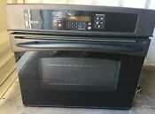 Ge Profile Series 30 Built In Single Convection Wall Oven Black Used Tested