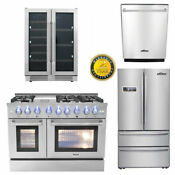Thor Kitchen 48 Gas Range 6burners 2ovens 36 Refridger 24 Dishwasher Deals