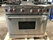 Wolf 36 Professional Series Lp Gas Range R364c 4 Burners Charbroiler