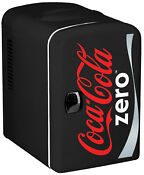 Coca Cola Zero 6 Can Personal Mini Cooler And Fridge