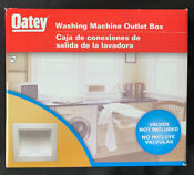 Oatey Washing Machine Outlet Box 38820 Valves Not Included Open Box