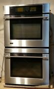 Ge Monogram Zet3058sh2ss Double Wall Oven Stainless Steel Glass