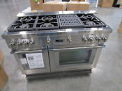 Thermador 48 Stainless Steel Duel Fuel Pro Grand Range Prd486wlhu