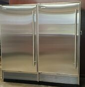 Sub Zero S Matched Pair Stainless Steel Refrigerator Freezer
