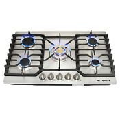 Gas Cook Stoves Top 30 Stainless Steel Gold Built In 5 Burner Ng Lpg Conversion
