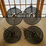 4 Genuine Ge Calrod Unit Stove Burners Elements 2 Small 2 Lg