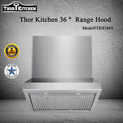 36 Inch Kitchen Wall Mount Range Hood Stainless Steel Button Led Top Ventilation