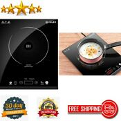 Portable Electric Induction Cooktop Sensor Touch With Kids Safety Lock And Timer