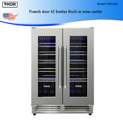 Thor Franch Door 42bottles Built In Wine Cooler Full Featured Blue Led Touch Pad